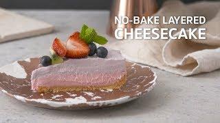 No-Bake Layered Cheesecake