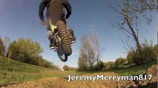 kawasaki klx 110 pitbike riding at backyard track