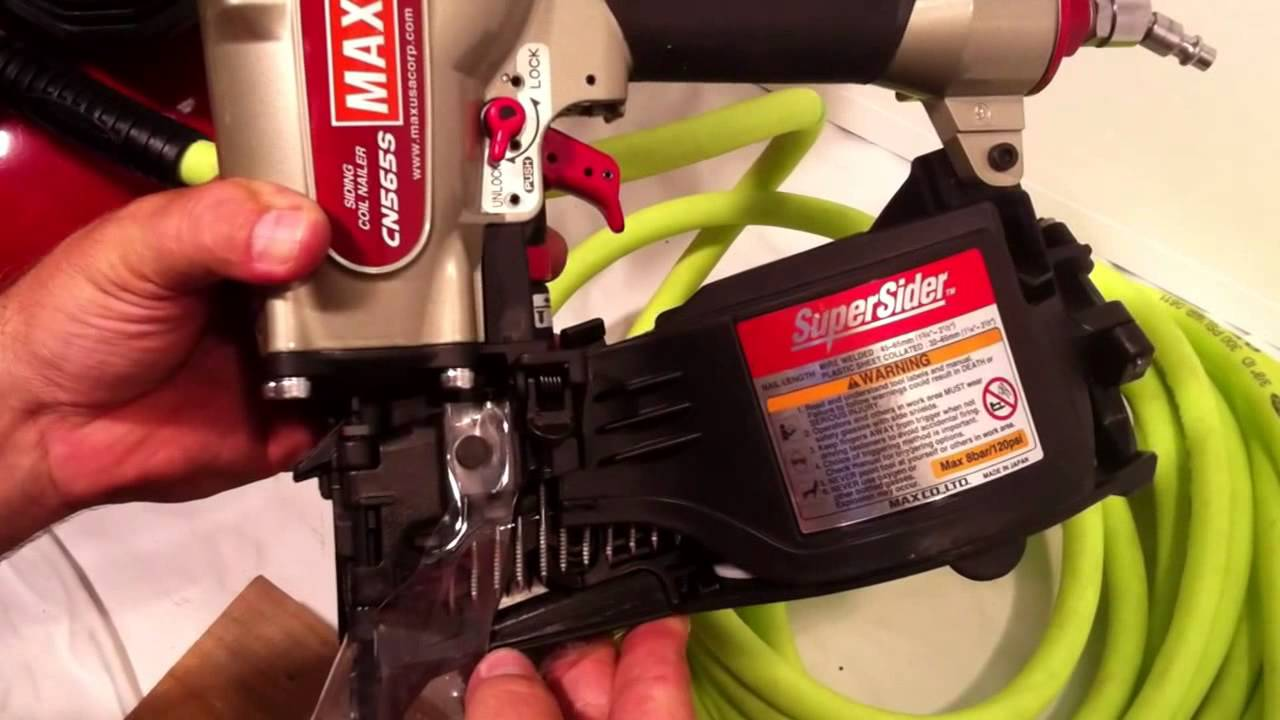 Max Siding Coil Nailer Cn565s Discussion Youtube
