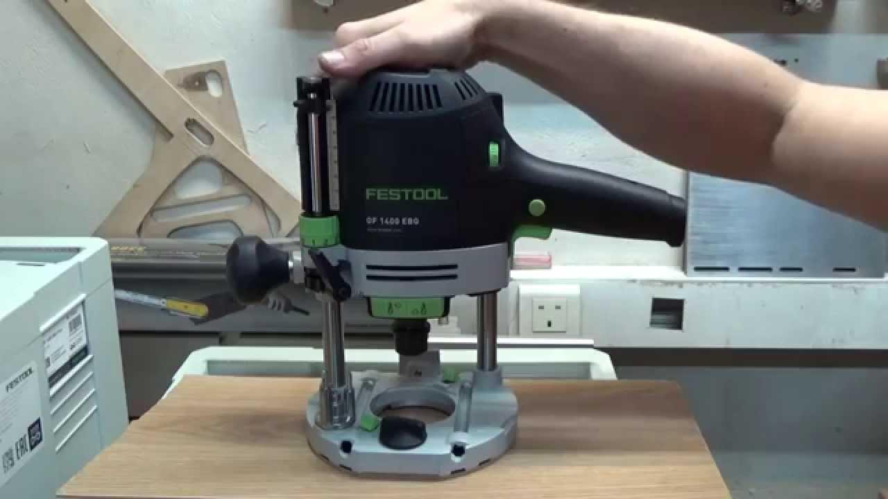 Кромочный фрезер Festool OFK 700 и вакуумный держатель - YouTube
