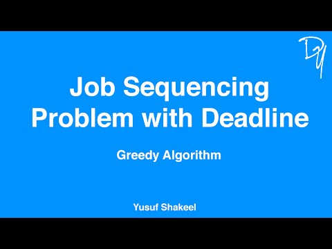 Greedy Algorithm | Job Sequencing Problem with Deadline - step by step guide