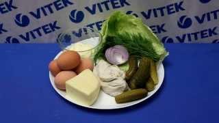 Рецепт приготовления салата из куриной грудки и сулугуни в блендере VITEK VT-3401 BK