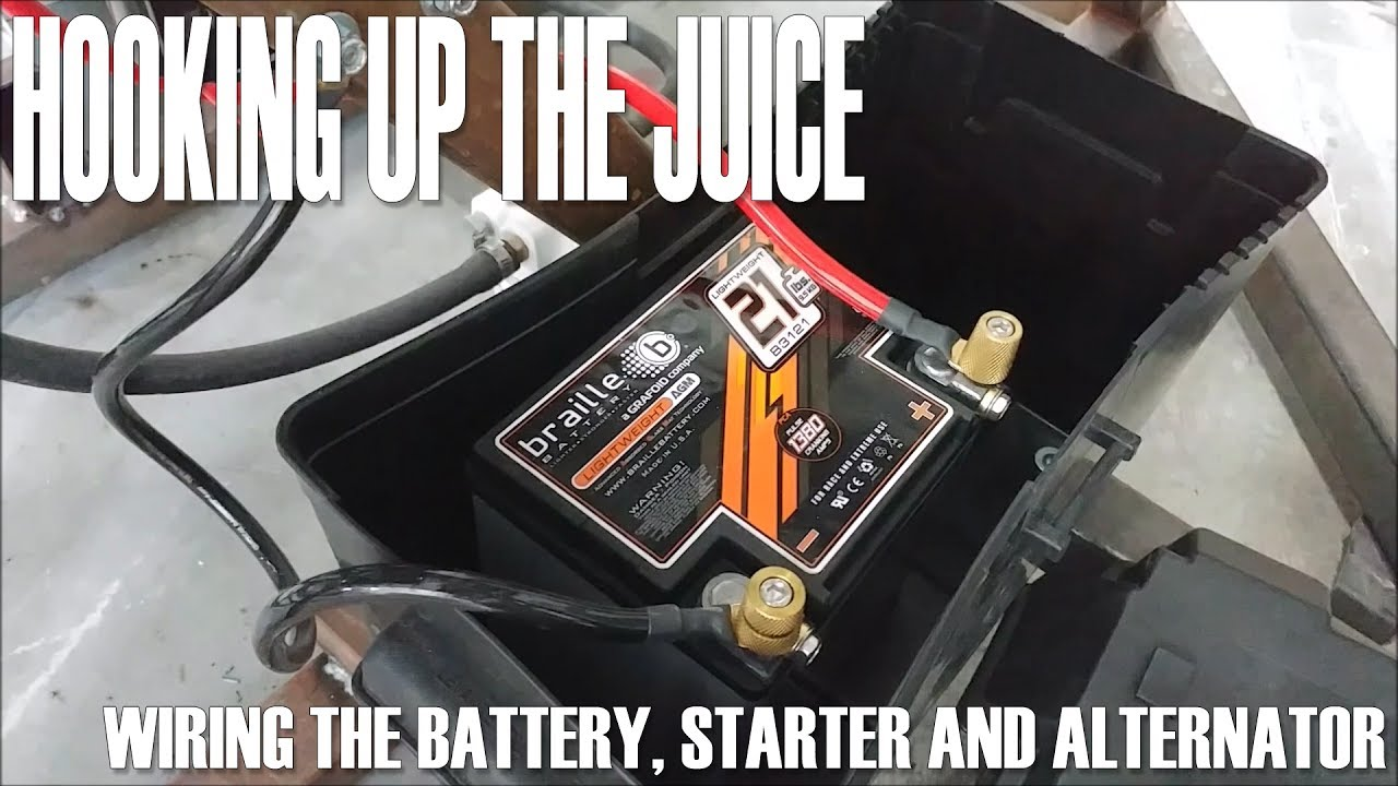 small resolution of hooking up the juice wiring the battery starter and alternator