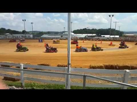 ARMA Lawn Mower Race Rockingham County Fair 2016 Twin Super Modified