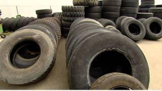 Alten Reifen auf der Spur