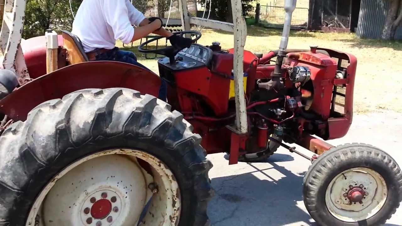 International Harvester 444 Tractor Parts : International diesel after engine rebuild youtube