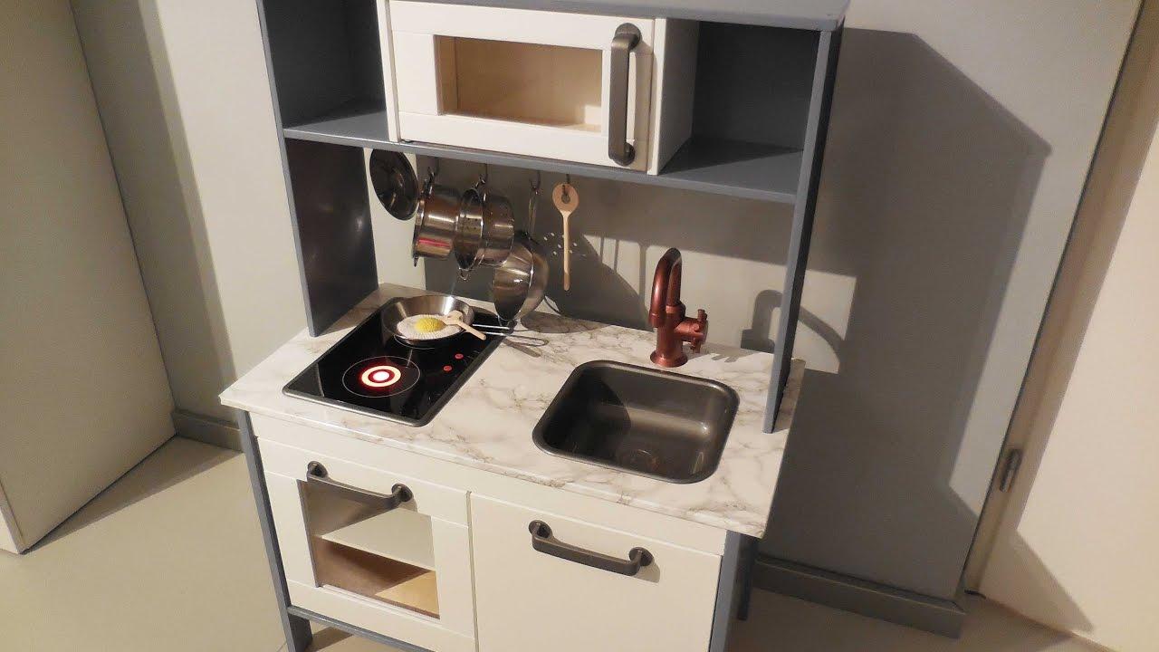 Keuken Verven Ikea : Diy ikea hack keukentje duktig youtube
