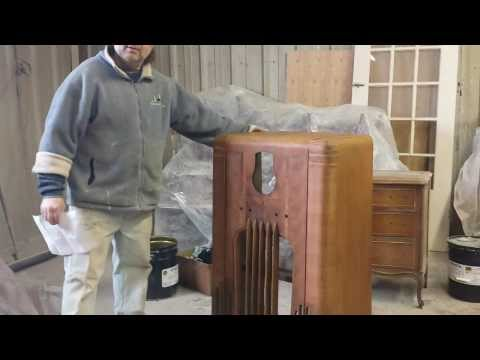 Philco37-116  radio Stripped,  timeless arts refinishing