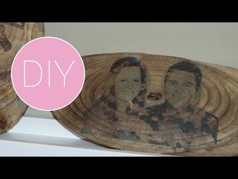 Iets Nieuws DIY Foto op hout afdrukken - YouTube #KQ67