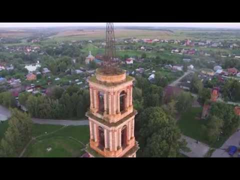 полет над старой частью города Венёва