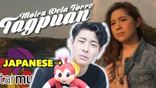 JAPANESE TRIES TO SING TAGPUAN by Moira Dela Torre!!!