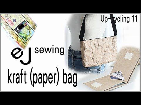 BAN-BAG 8/up cycling11/kraft (paper) bag/크라프트지 가방 만들기/한장 지갑 패턴/shoulder bag set DIY /Make a bag