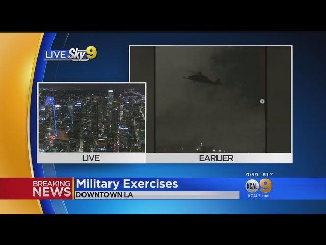 Military Exercises In Downtown LA