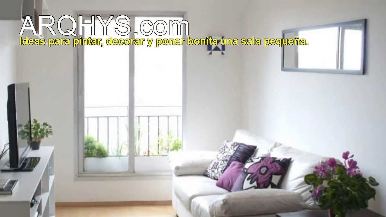 Ideas para pintar decorar y poner bonita una sala peque a for Como acomodar una casa pequena