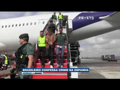 Brasileiro preso na Espanha confessa assassinato