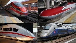 新幹線とヨーロッパの高速鉄道の加速を比較してみた。 thumbnail