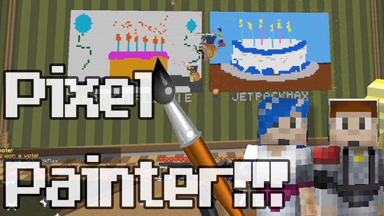 Minecraft Pixel Painters Spacetime Adventure Vs Houseowner