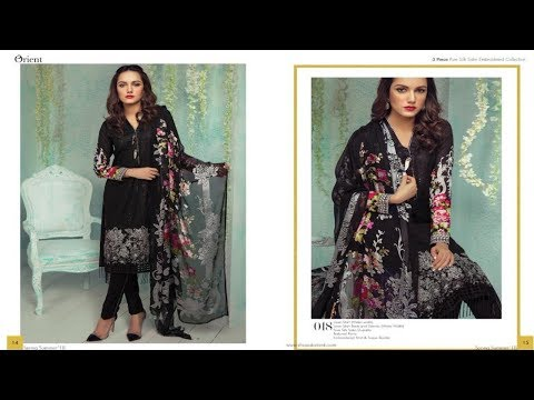 Latest Orient Textiles Spring Summer 3 Pc Embroidered Unstitched Collection