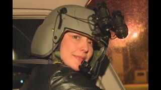 """""""No he sentido miedo"""": esta guerrera del cielo pilotea el halcón de la Policía"""
