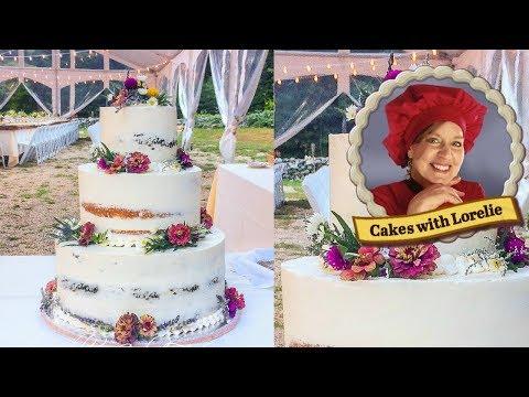 How to Make a Rustic Wedding Cake with Fresh Flowers - Wedding Cake Setup