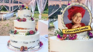 How to Make a Rustic Semi Naked Wedding Cake