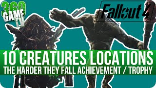 Fallout 4 - 10 Giant Creature (Behemoth/Mirelurk Queen) Locations - The Harder They Fall Achievement