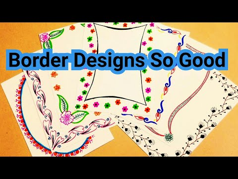 border designs on paper | project design | file decoration design | border designs | बॉर्डर डिजाईन