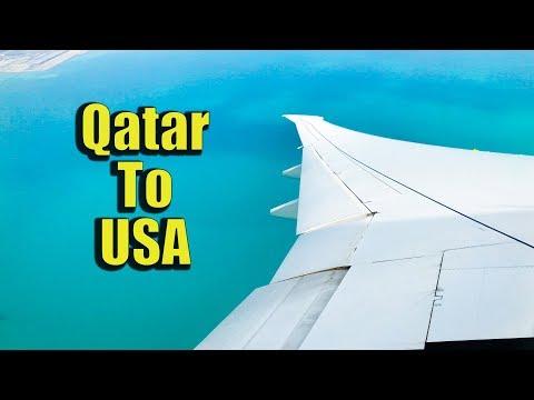 Qatar Airways - Doha (DOH) To Washington DC (IAD) Travel | Takeoff & Landing