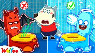 No No, Wolfoo! Keep Your Potty Clean - Kids Stories About Potty Training of Wolfoo   Wolfoo Channel