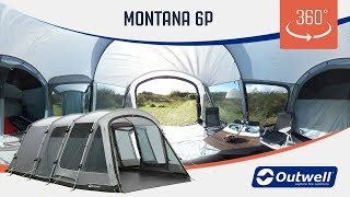Outwell Montana 6P Tent - 360 video (2019)