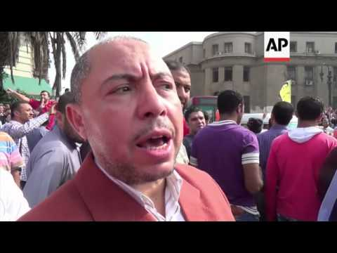 Thousands of Morsi supporters protest in front of Supreme Court