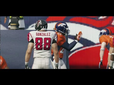 Peyton Manning and Tony Gonzalez Meet Again - Madden 13 Online Gameplay (Falcons vs Broncos)