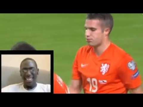 Van Persie funny own goal vs Iceland