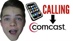 CALLING COMCAST CUSTOMER SERVICE!!