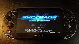 SNK vs. Capcom [SVC Chaos] game on PlayStation Vita! **Full, complete playthrough**
