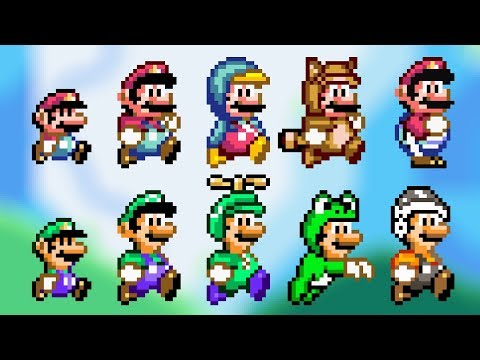 ALL POWER-UPS! SMW Styled Custom Sprites - Super Mario Bros. X (SMBX 1.4.4)