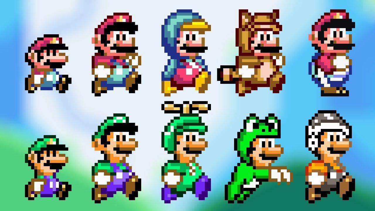 ALL POWER-UPS! SMW Styled Custom Sprites - Super Mario Bros  X (SMBX 1 4 4)