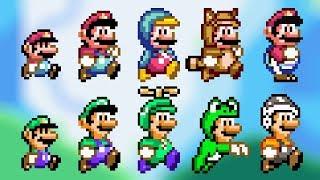 SMW Style Custom Sprites - All Power-Ups! | Super Mario Bros. X (SMBX v1.4.4)