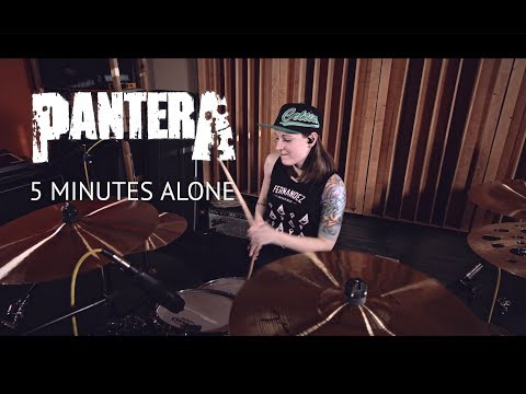 Pantera - 5 Minutes Alone (drum cover by Vicky Fates)