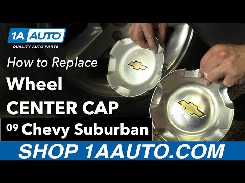 How to Replace Instal Wheel Center Cap 2009 Chevy Suburban