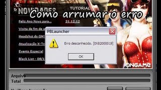 Como arrumar o erro do Launcher do Point Blank