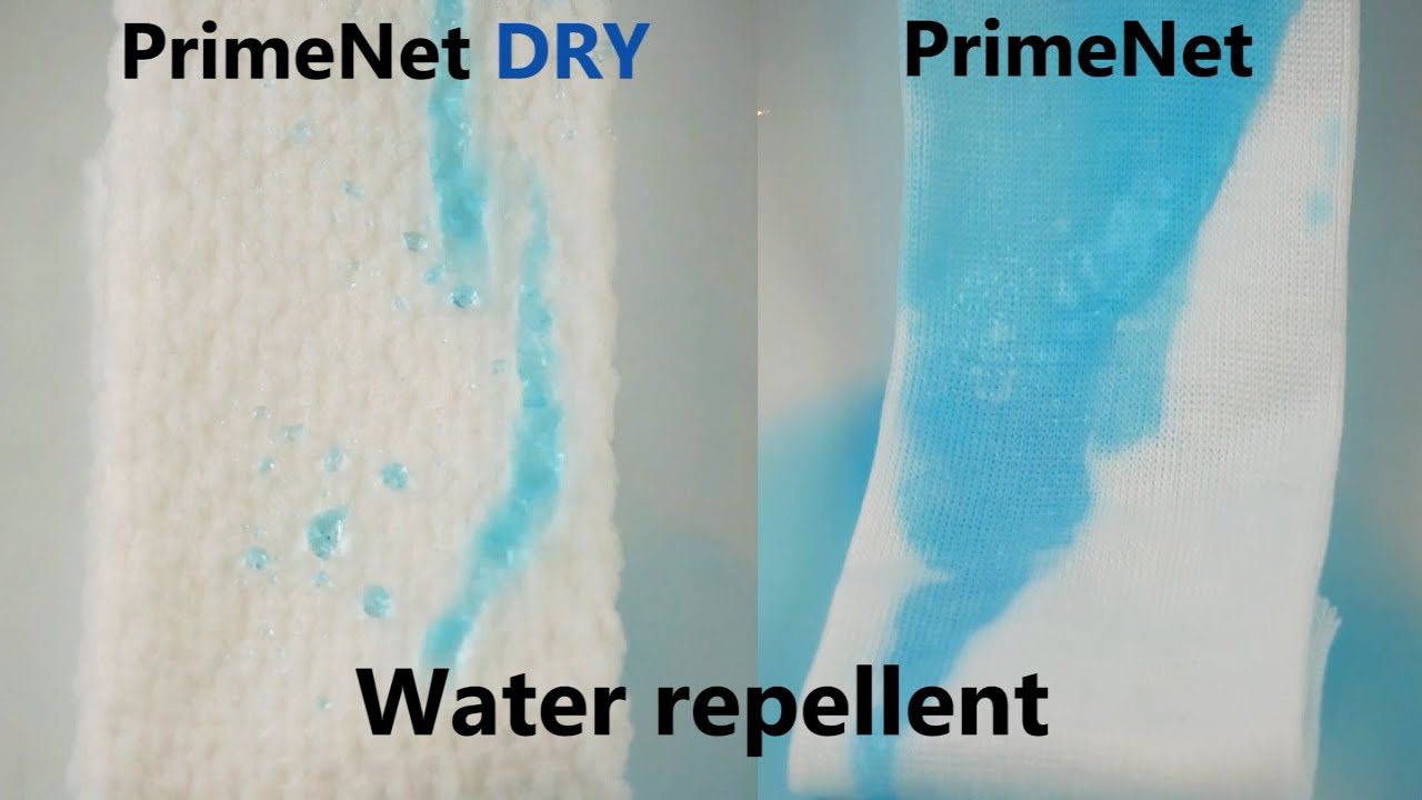 Introducing PrimeNet DRY: Water Repellent Stockinette