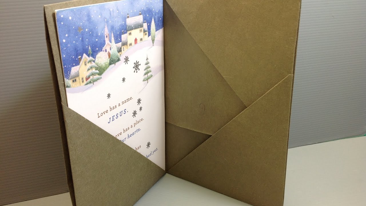 Origami folder for christmas cards make your own youtube for How to make a paper design