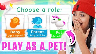 How To Play AS A PET In Adopt Me! Roblox
