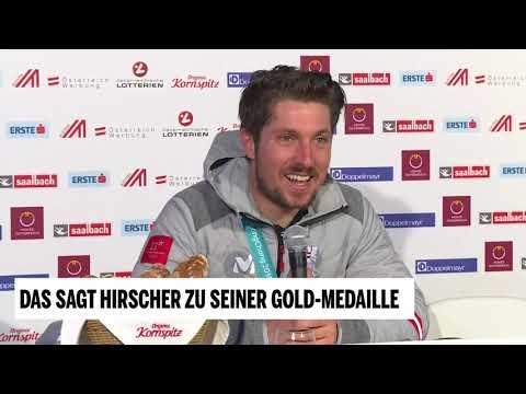 Marcel Hirscher: Pressekonferenz nach Kombi-Gold