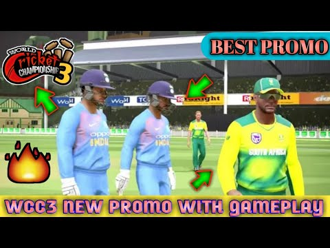 WORLD CRICKET CHAMPIONSHIP 3  TRAILER WITH GAMEPLAY {FAN MADE} | WCC3 FOR ANDROID | WCC3 GAMEPLAY .