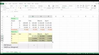How to Calculate Value-Weighted Returns of a Portfolio