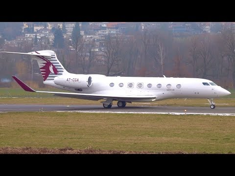 Qatar Executive Gulfstream G650ER Take-Off at Bern