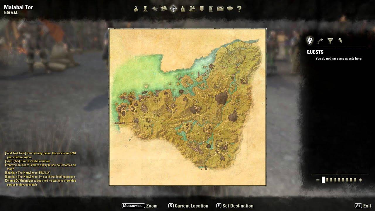 Elder Scrolls Online map - YouTube