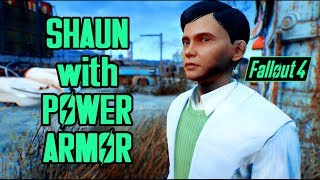 Fallout 4 - Best Child Shaun Companion Mod (so far) - Child Power Armor & Child Apparel